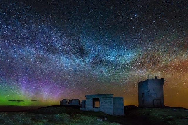 Aurora & Milky Way - Malin Head - Ireland