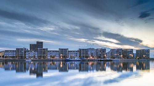 sunset day cloudy sweden cement sverige malmö kalk residentialarea theisland solnedgång ön limhamn bostadsområde sundskajen sundsholmen