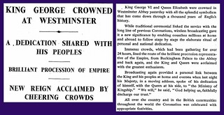 12th May 1937 - King George VI crowned at Westminster | by Bradford Timeline