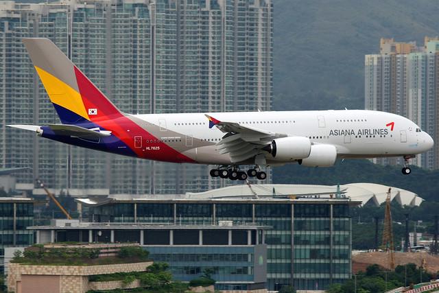 Asiana Airlines   Airbus A380-800   HL7625   Hong Kong International