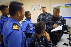 In this file photo, U.S. Navy and Royal Malaysian Navy sailors work together during a previous exercise. (U.S. Navy/MC3 Daniel J. Lewis)