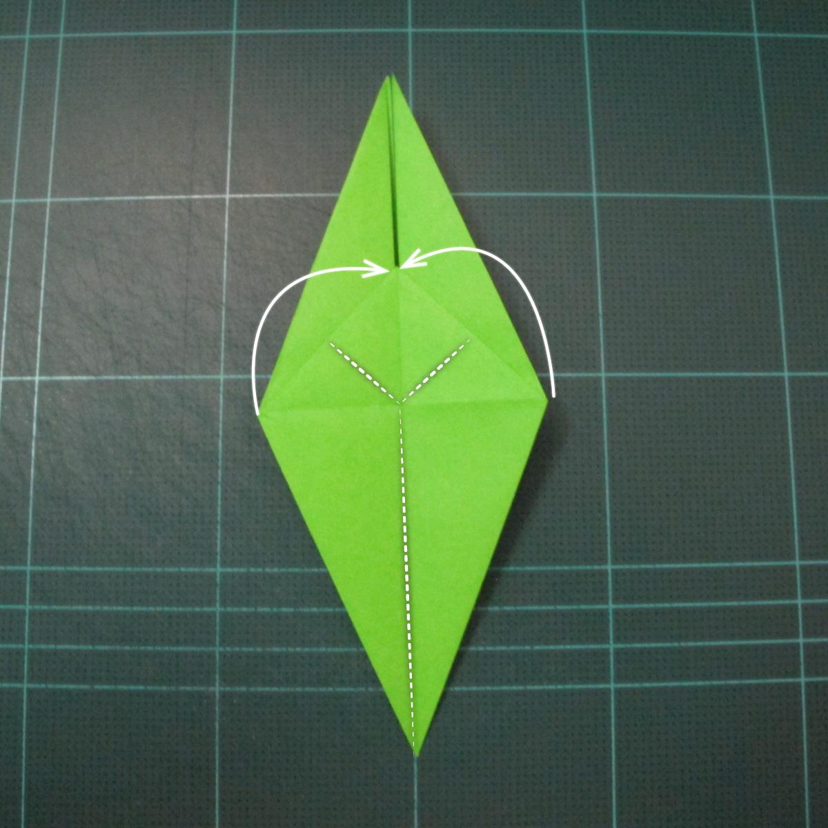 วิธีพับกระดาษเป็นรูปหอยทาก (origami Snail) 012