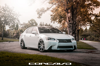 Lexus GS350 F-Sport on CW-S8 Matte Black Machined Face | by Concavo Wheels