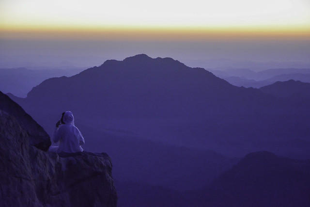 Dawn at the top of Mount Sinai