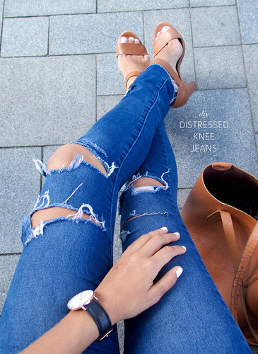 How to distress your denim jeans | by apairandaspare