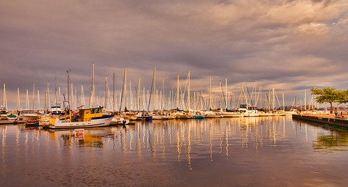 sunset cloud ontario canada reflection water burlington sailboat marina evening boat dock nikon waterfront cloudy sail mast d800