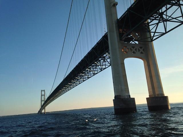 Passing Underneath The Mackinac Bridge (Explore)