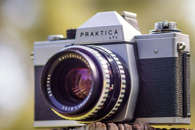 Praktica LTL with Carl Zeiss Jena Pancolar 50mm ƒ/1.8 zebra