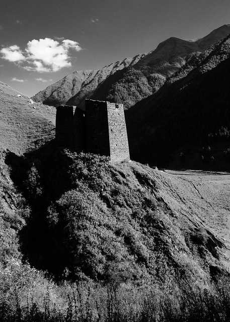Tusheti Towers B&W