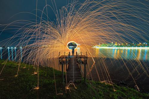 fireworks jetty putrajaya spinningwool putrajayalake burningwool putradam