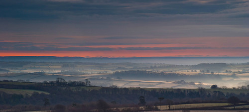 landscape somerset haddon hill wimbleball lake dawn sunrise mist