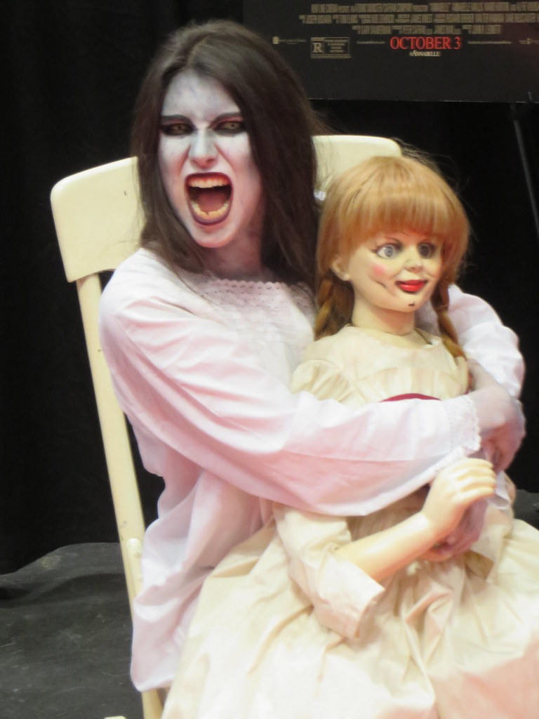 Annabelle - A promotion for the demon doll horror movie. - Eden, Janine and Jim - Flickr