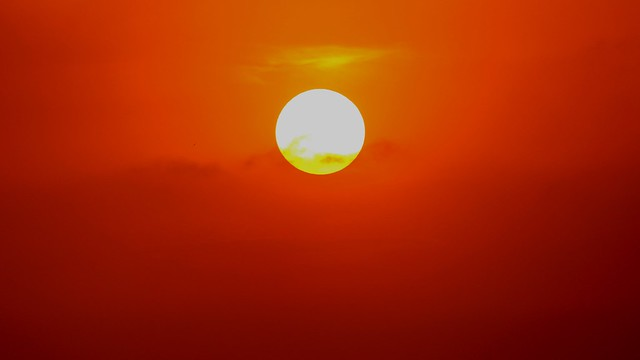 A Blood Red Sitting Sun