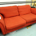 Large 3 seater wine fabric sofa