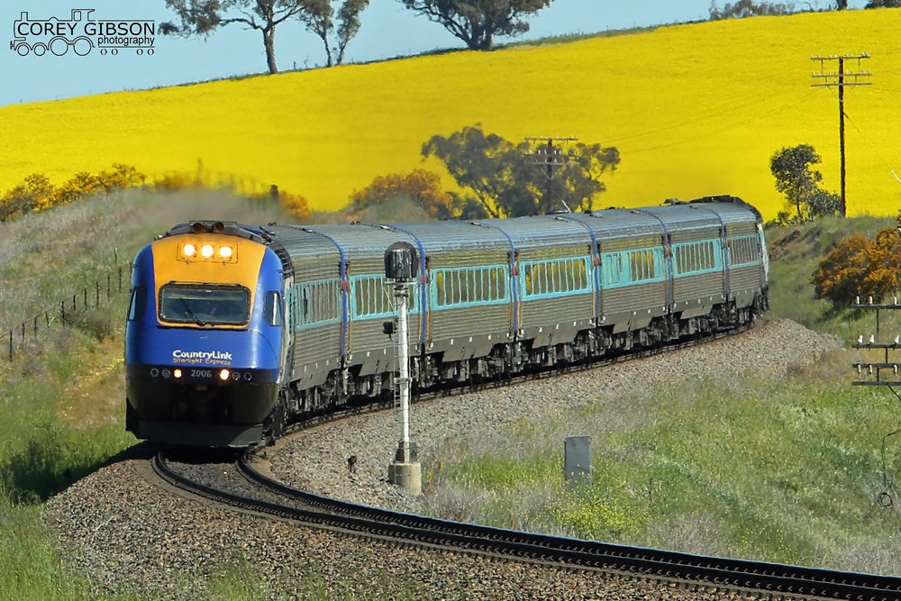 Sydney bound XPT service near Junee by Corey Gibson
