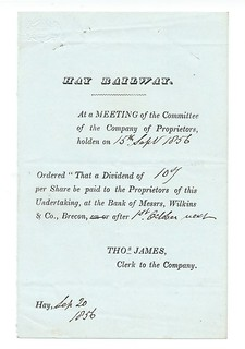 Hay Railway Notice of Meeting 1856 | by ian.dinmore