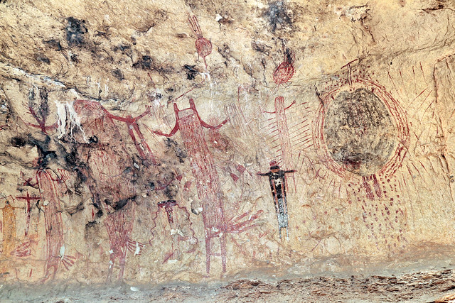Panther Cave, Pecos River Style Pictographs, (Seminole Canyon State Park & Historic Site), Amistad National Recreation Area, Val Verde County, Texas 3