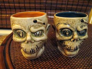 Trader Sam's shrunken head mugs | by The Tiki Chick