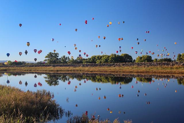 Mass ascention at Balloon Fiesta