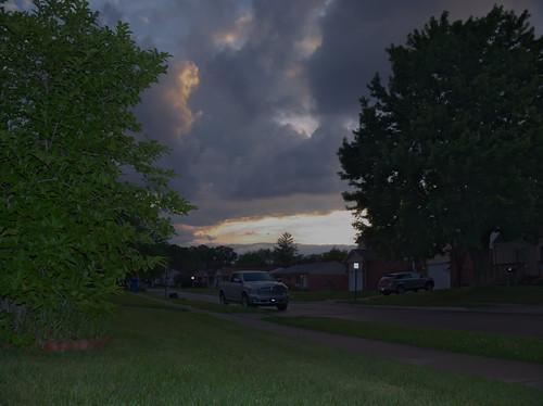 sunset landscape michigan avenue harwood