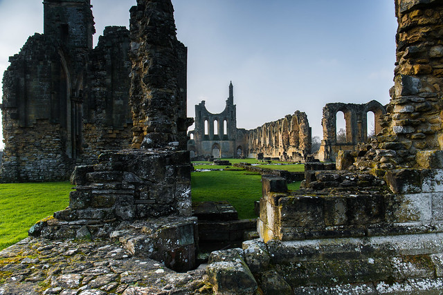 The size and beauty of Byland Abbey can still be imagined when you are amongst its ruins