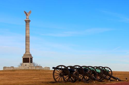Antietam, NY Monument and Cannon