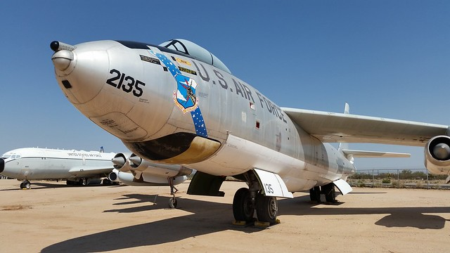 EB-47E Stratojet 53-2135/135 ex Strategic Air Command/SAC USAF.Preserved, Pima Air-Museum, Tucson, Arizona. 06 June 2016.