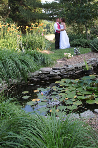 Bridal Couple, Pond Setting at Summerseat, Mechanicsville, MD