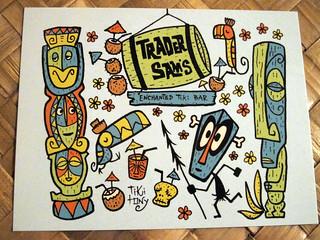 Tiki Tony's Trader Sam's postcard | by The Tiki Chick