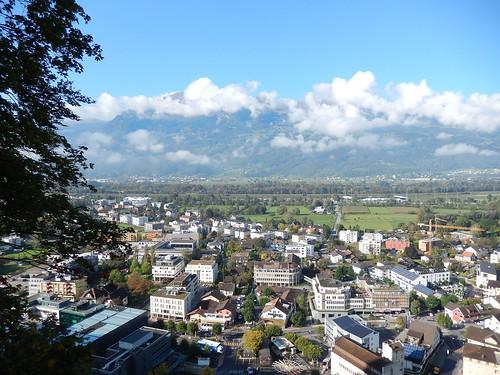 Vaduz - uitzicht over stad