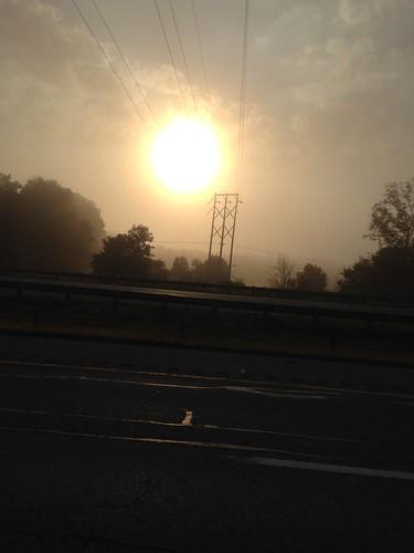 sun clouds sunrise 10 mobilepictures fallphotos highwayphotography iphonephotography bellvilleoh cloudpoker