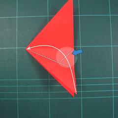 วิธีพับกระดาษเป็นรูปแมลงปอ (Origami Dragonfly) 008