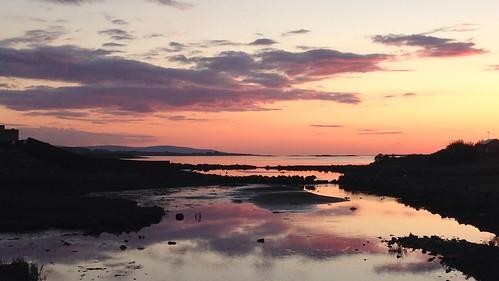 ireland sunset galway oranmore galwaybay