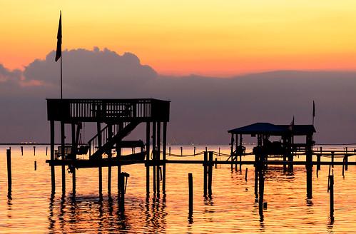sunset beach water landscape bay pier alabama wharf gulfcoast coden mobilecounty portersvillebay codenbeach