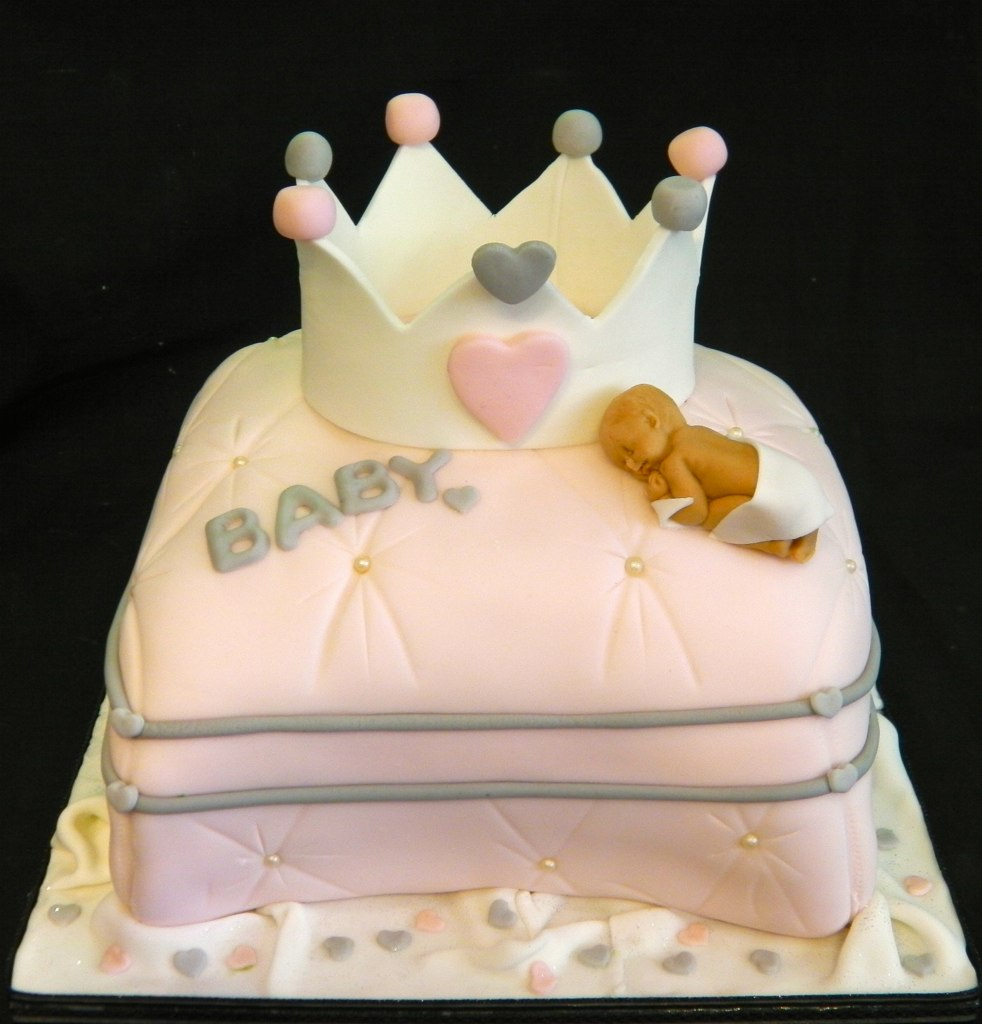 Princess Crown Pillow Baby Shower Celebration Cake