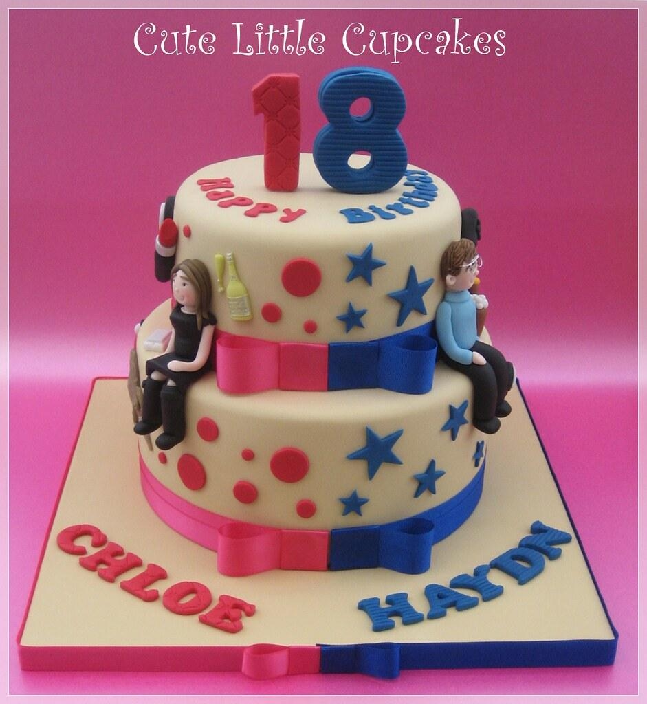 Fabulous Joint 18Th Birthday Cake Heidi Stone Flickr Birthday Cards Printable Nowaargucafe Filternl