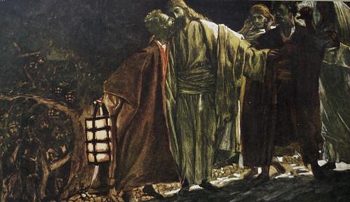 Judas Betrays Jesus with a Kiss