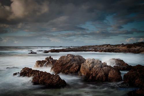 ocean california sunset sea sun west beach rock clouds dark photography coast monterey rocks aqua waves moody pacific grove stack craggy lichen algae oceanview asilomar sunsetdr msoriano tagakodak marvinsoriano