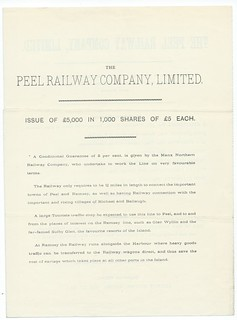 Peel Railway share issue notice 1865 | by ian.dinmore