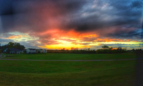 autumn sky fall colors clouds