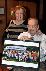 Jake just returned home from a 2 week stay at the hospital and re-hab. All members present today signed their names on the group photo taken this past Saturday at Ed & Kay Smallwood's home.