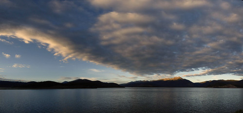 morning panorama lake mountains water clouds sunrise landscape colorado peak1 tenmilerange dillonreservoir tenmilepeak