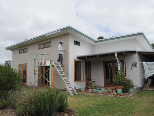 Day Three on the Monster Wall – Strawbale House Build in Redmond Western Australia