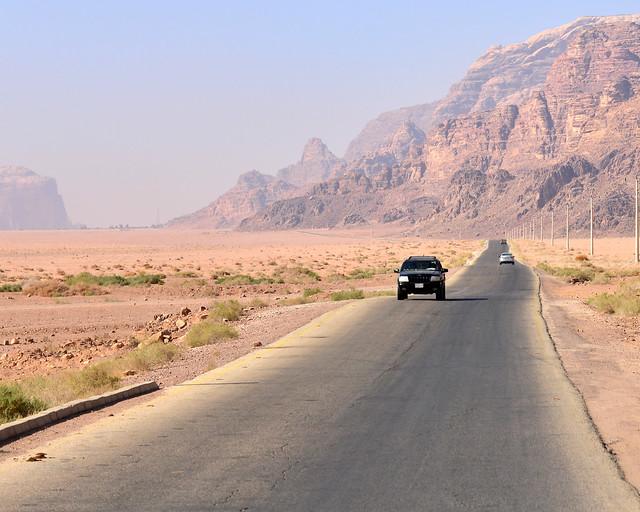 Como son las carreteras en Jordania