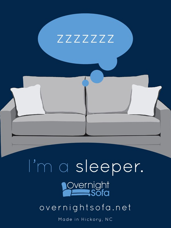 Overnight Sofa Hangtag