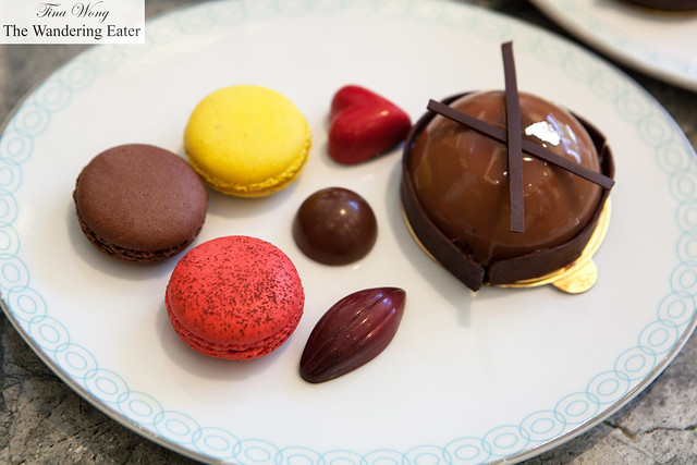 Macarons, bonbons and chocolate gateaux from Four Season's Patisserie