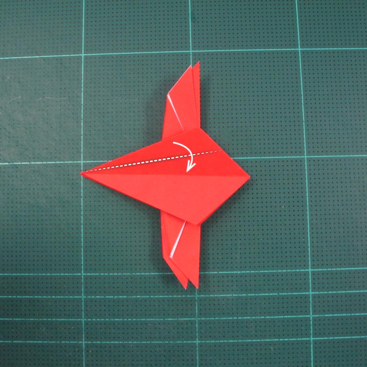 วิธีพับกระดาษเป็นรูปแมลงปอ (Origami Dragonfly) 016