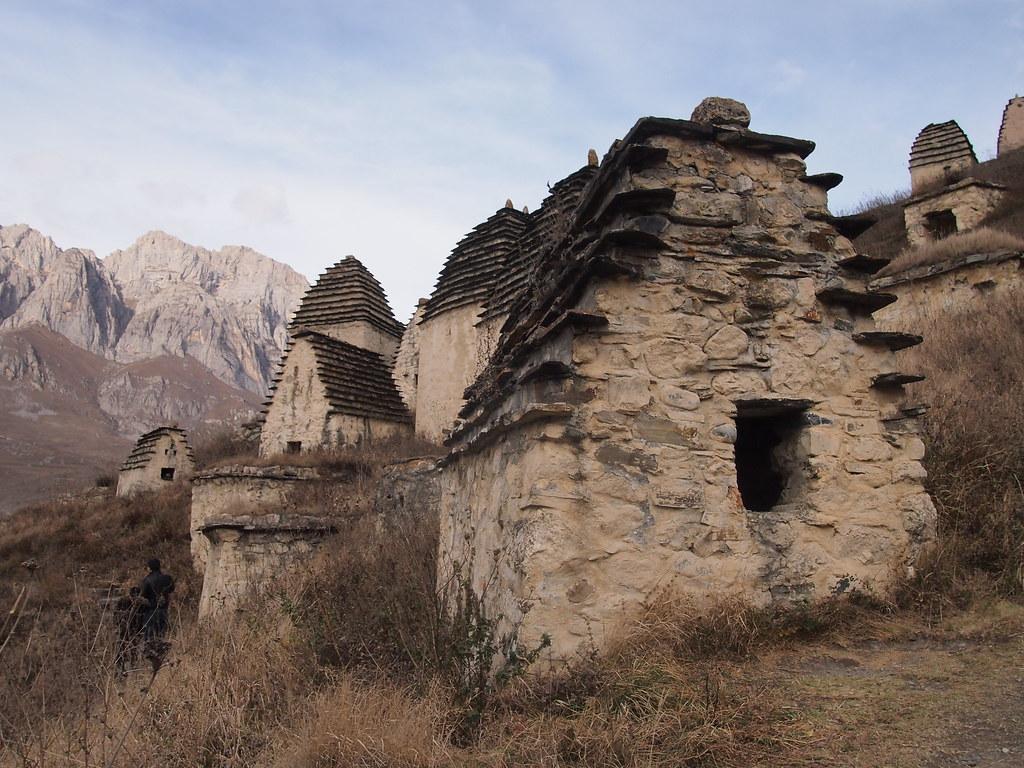 Dargavs. Traditional nekropol. Russia, North Ossetia