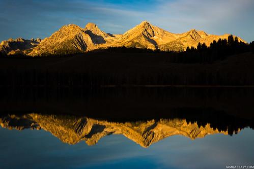 sunrise unitedstates id idaho stanley sawtoothmountains littleredfishlake