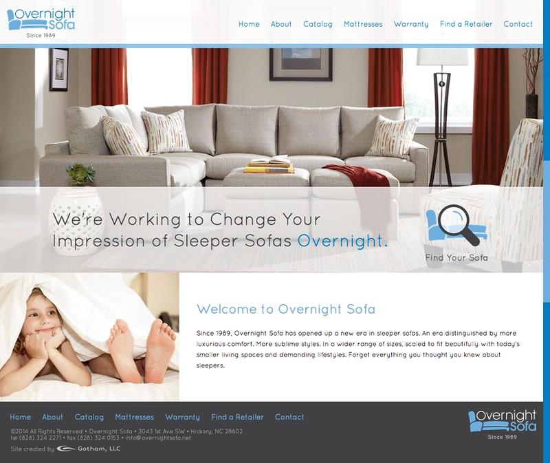 Overnight Sofa Website Design